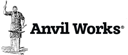 Anvil works artist-blacksmith logo