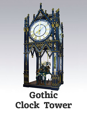 Artist-Blacksmith Gothic clock tower by Lee Badger