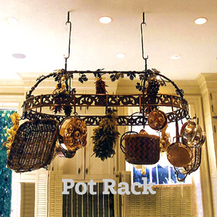 Artist-blacksmith french pot rack