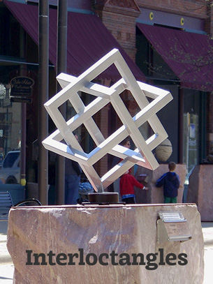 Artist-Blacksmith sculpture Interloctangles by Lee Badger