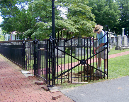 Wrought iron gate restored and repaired